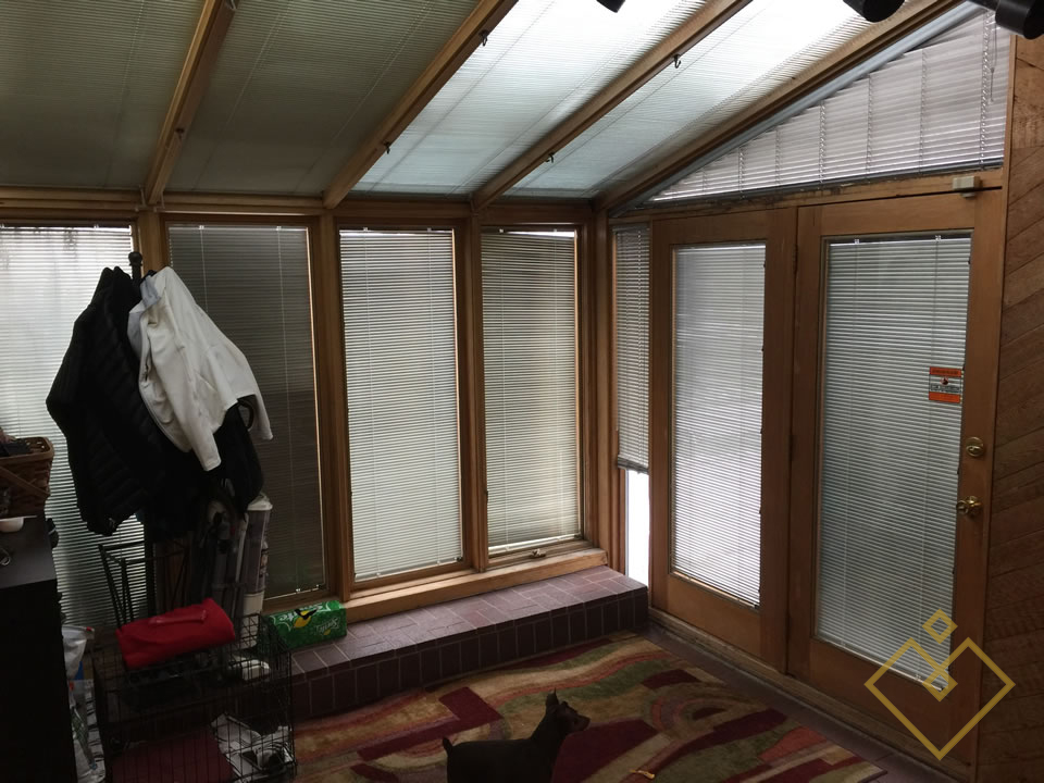 Sun Room and Side Entry Before Staging